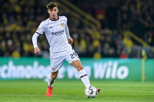 Kai Havertz is central to the Bayer attack