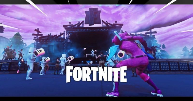 EDM artist Marshmello played a virtual concert in Fortnite