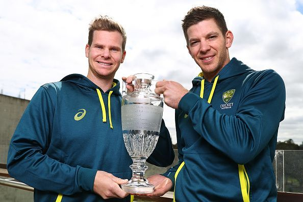 Steve Smith & Tim Paine Return to Melbourne With Ashes Trophy