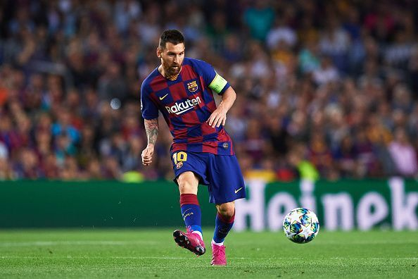 Lionel Messi in action for Barcelona in midweek