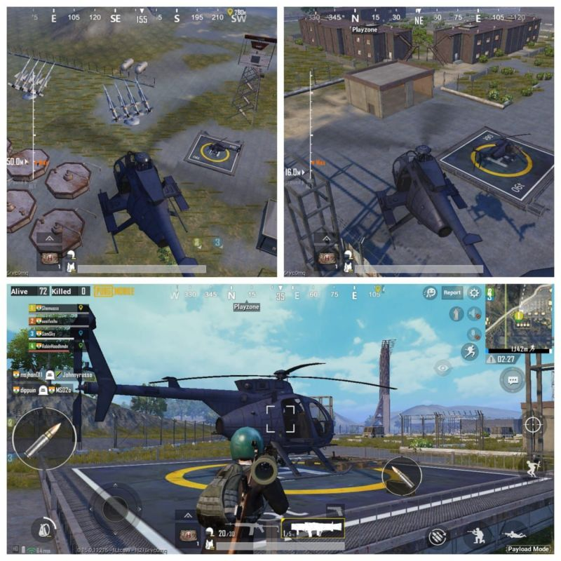 The three helicopter locations at Sosnovka Military Base