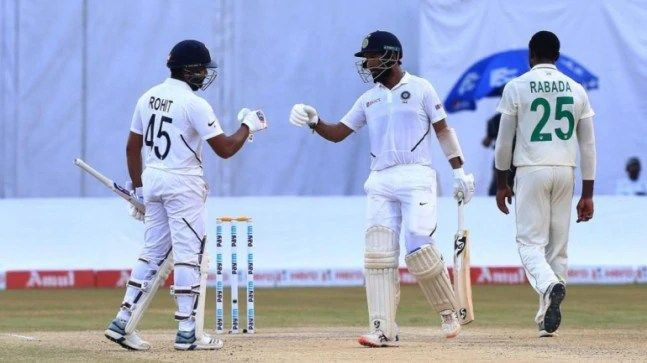 Rohit-Pujara association gives India the upper hand.