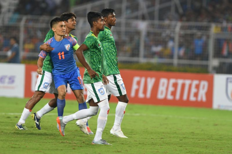 Sunil Chhetri was not allowed room to express himself freely.
