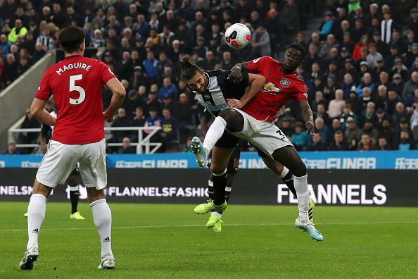 Axel Tuanzebe showed maturity beyond his years against Newcastle United.