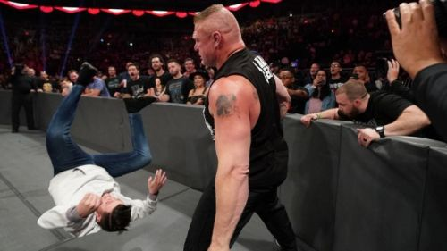 The referee was directing traffic this week on RAW