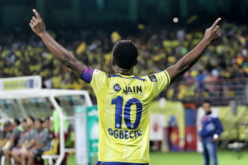 Bart Ogbeche continued from where he left last season by banging in two goals against ATK on the opening night