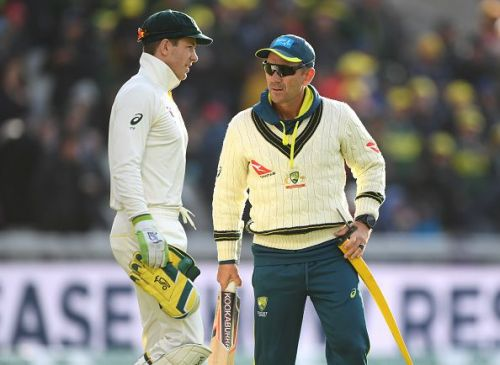 Australia captain Tim Paine (left) and coach Justin Langer (right)