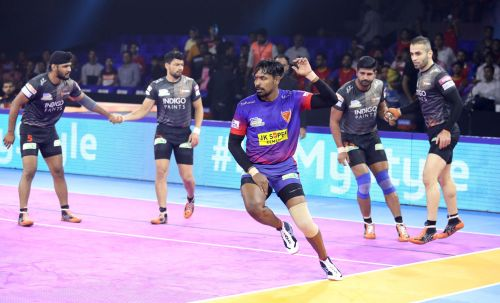 Dabang Delhi and U Mumba finish on a 37-37 deadlock