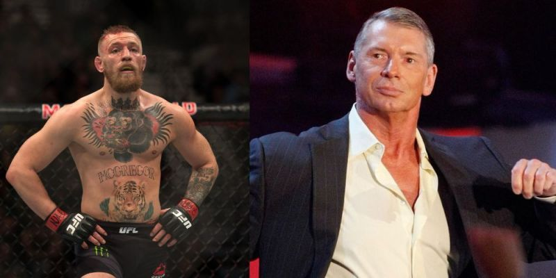 Conor McGregor (left) could be on his way to the WWE
