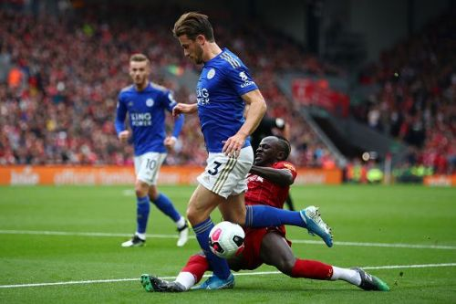 Mane helping out in the defence against Chilwell