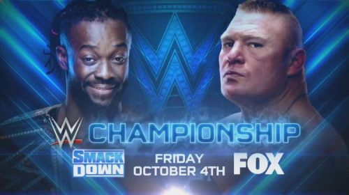 The WWE Title will be on the line on SmackDown Live's Fox debut, October 4.
