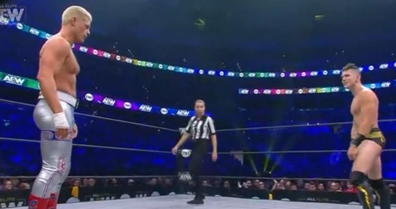 Cody faced Sammy Guevara in the first match