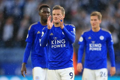 Vardy has scored in four consecutive Premier League games at the King Power Stadium.
