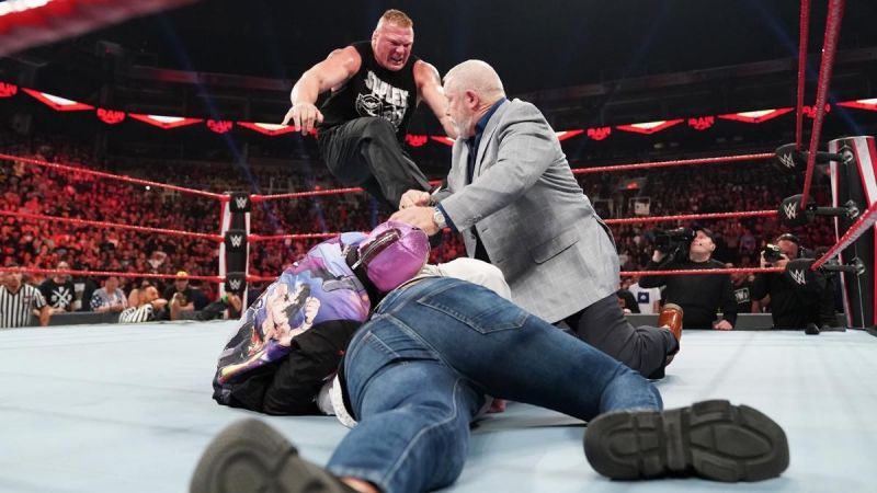 Brock Lesnar was unstoppable.