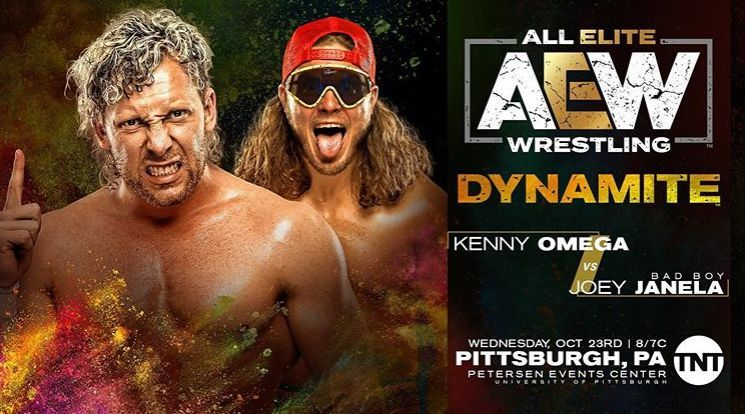 Kenny Omega will be facing Joey Janela in a rematch.