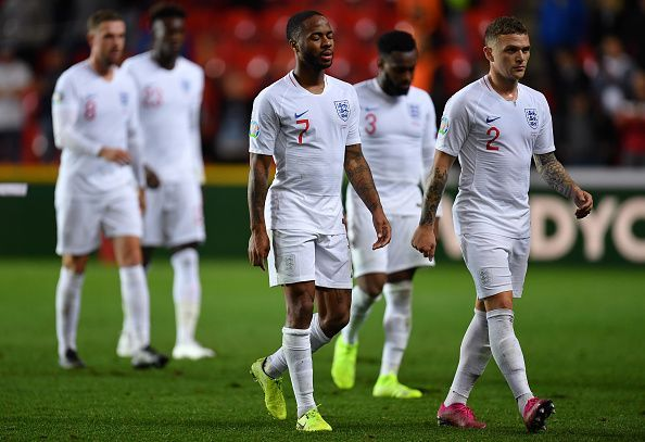 England suffered a shocking loss in Prague