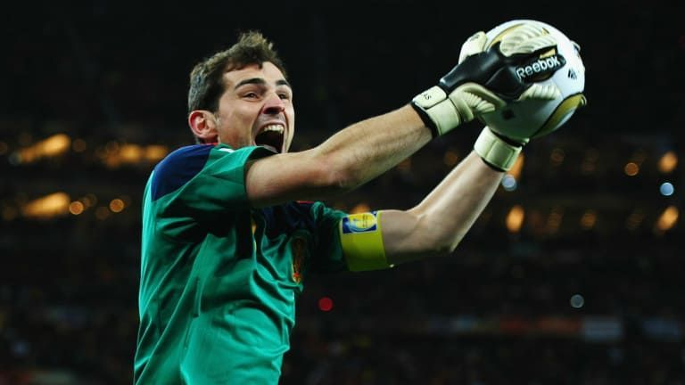 Casillas led Spain to their first ever World Cup title in 2010