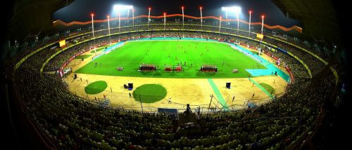 The picturesque Kochi Stadium with a packed house during an ISL match (Credits: ISL)