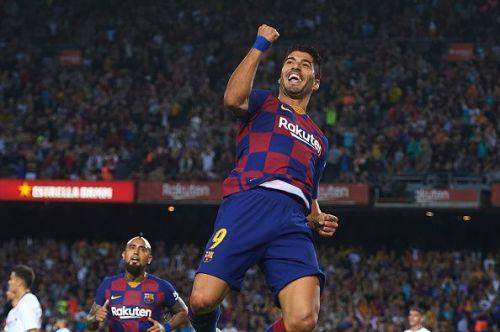 Suarez opened the scoring for Barcelona