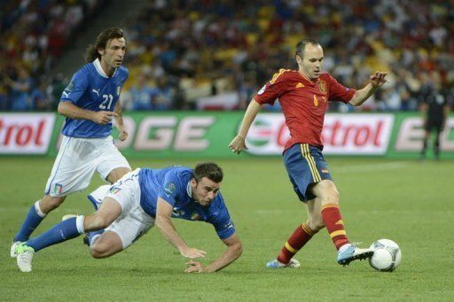 Iniesta outplayed Pirlo in the final of Euro 2012