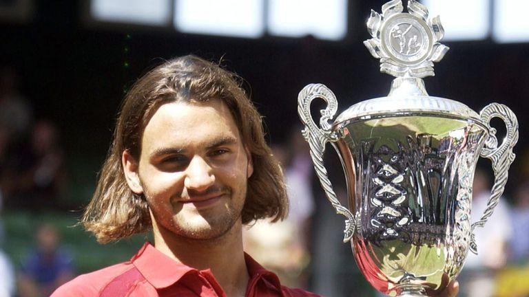 Federer at 2003 Halle