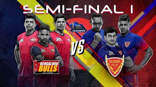Bengaluru Bulls vs. Dabang Delhi K.C. (Pro Kabaddi 2019, Semi-Final 1)