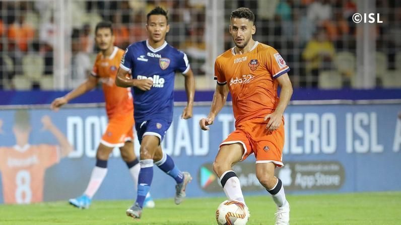 Ferran Corominas had an outstanding game against Chennaiyin FC in a new position