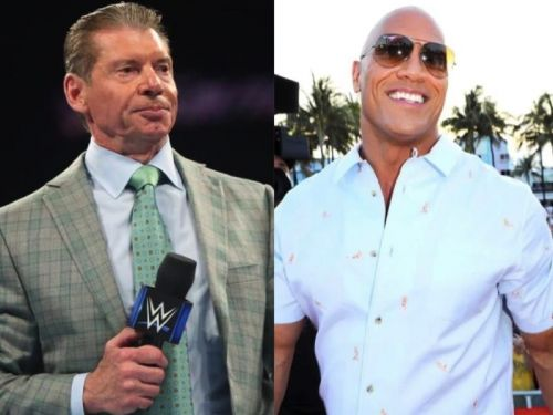 The Rock and Vince McMahon