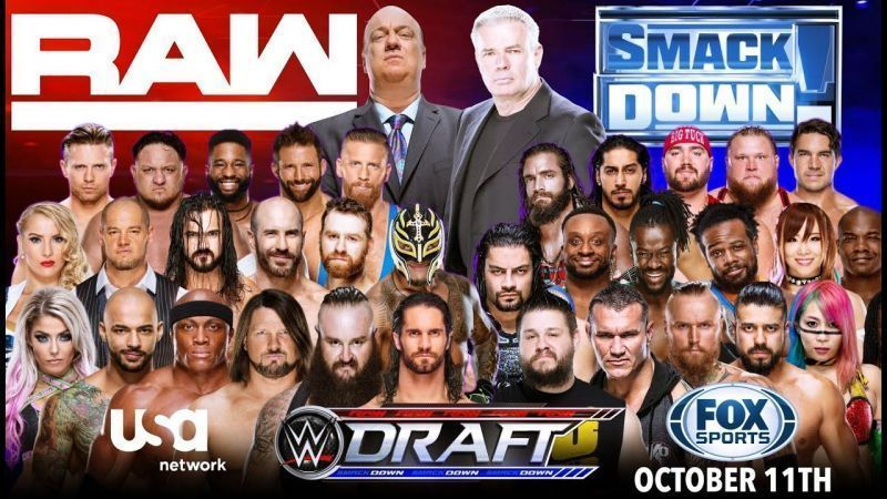 WWE ड्राफ्ट 2019