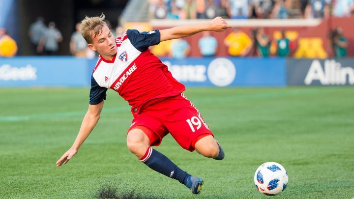 Pomykal in action for FC Dallas