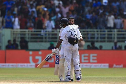 Mayank Agarwal and Rohit Sharma had stitched a partnership of 317 runs in the first innings