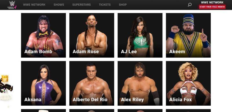 WWE के पूर्व सुपरस्टार्स की सूची