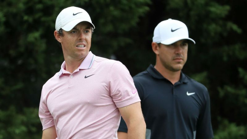 Rory McIlroy and Brooks Koepka - cropped