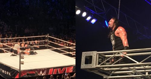 Xavier Woods being attended by the medics/ Roman Reigns