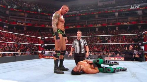 Randy Orton showed Ali a sign of respect after their match.