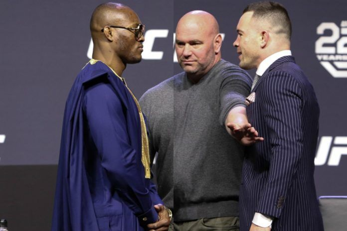 Kamaru Usman (left) will be defending the UFC Welterweight Championship against Colby Covington