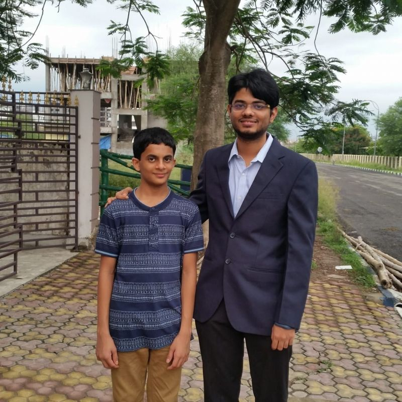 With Indian prodigy Nihal Sarin! Credit- Nihal Sarin
