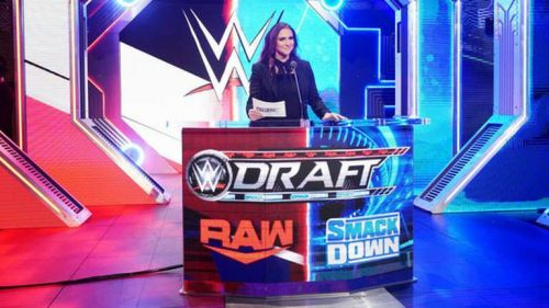 Stephanie McMahon was the emcee for the WWE Draft.
