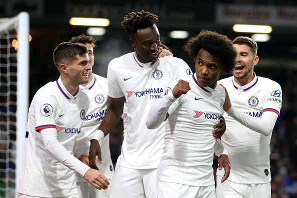 Chelsea won 4-2 at Burnley last weekend