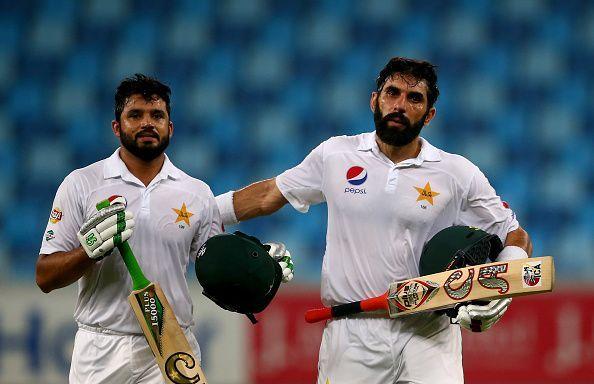 Azhar Ali (left)