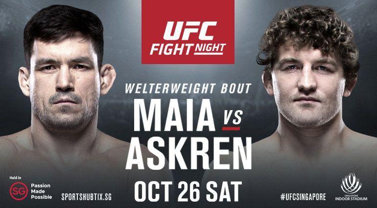The UFC returns to Singapore this Saturday as Demian Maia faces Ben Askren