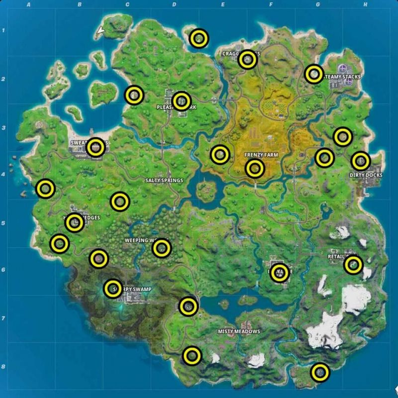 Locations of upgrade benches