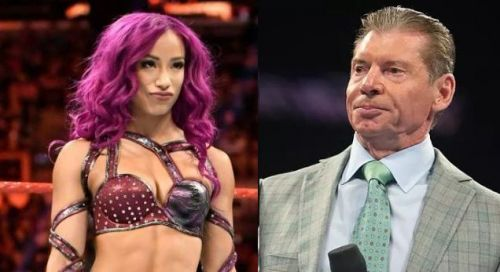 Sasha Banks has been known to wrestle in an aggressive and high-risk offensive style