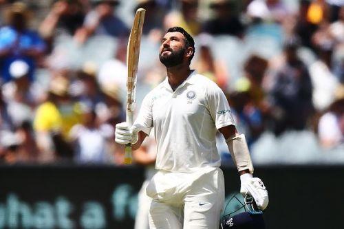 Cheteshwar Pujara scored 58 runs in the first innings