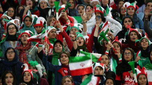 Fans at Iran v Cambodia