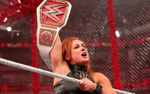 Becky Lynch is the first woman to retain her Championship inside Hell in a Cell
