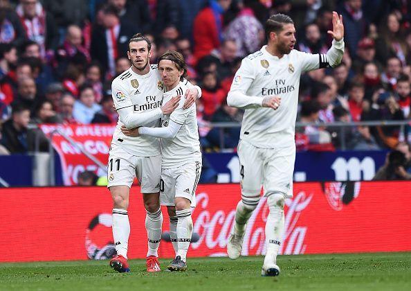 Gareth Bale (left), Luka Modric (centre) and Sergio Ramos (right)