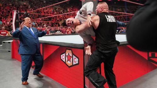 Brock Lesnar attacks Dominick