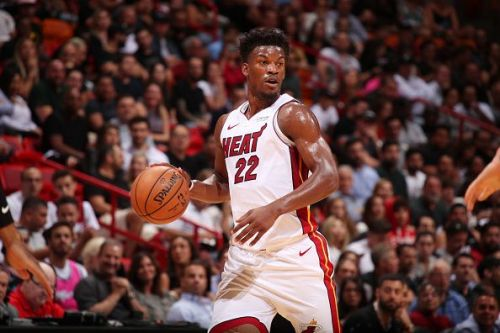 Jimmy Butler finally made his Miami Heat debut today