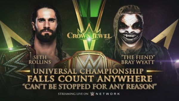 Seth Rollins and The Fiend will go one-on-one at Crown Jewel.